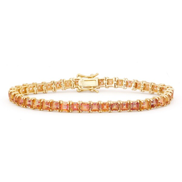 Gioelli Goldplated Sterling Silver Mystic Azotic Topaz Gemstone Bracelet