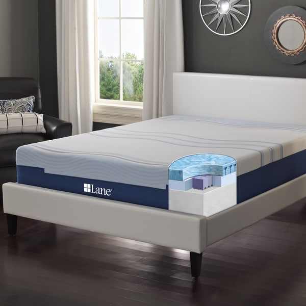 Sleep Sync by LANE 12-inch King-size Flex Gel Foam Mattress