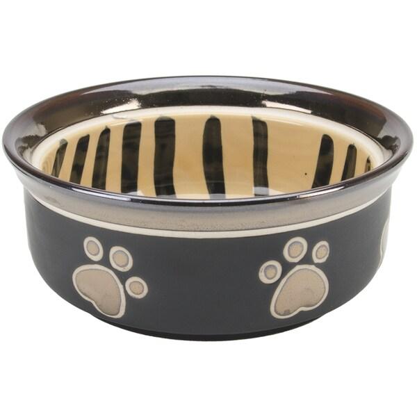 Tiger Print & Paw Print Design Stoneware Dish