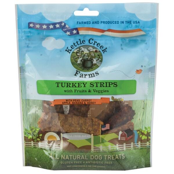 All Natural Kettle Creek Farms Dog Treats 5oz Turkey Strips W/Fruits & Veggies