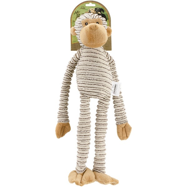 Nandog My BFF Striped Corduroy Plush Toy Beige Monkey