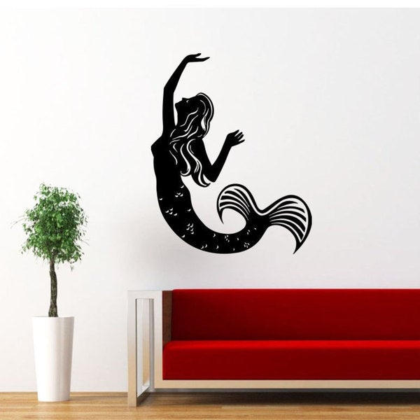Mermaid Vinyl Sticker Art