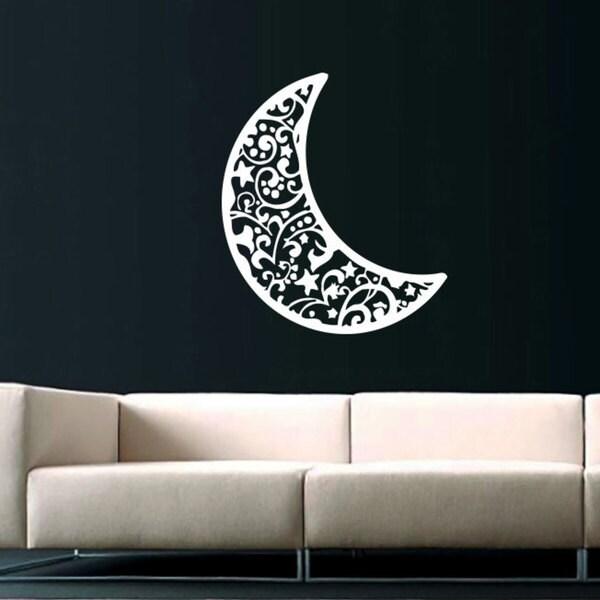 Half Moon Crescent Vinyl Sticker Wall Art