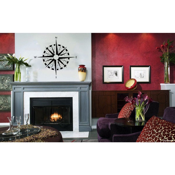 Compass Rose Vinyl Sticker Wall Art 15598426