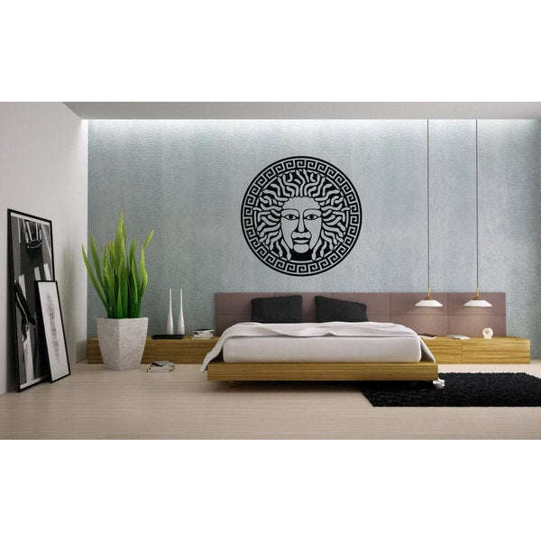Medusa Gorgon Head Vinyl Sticker Wall Art