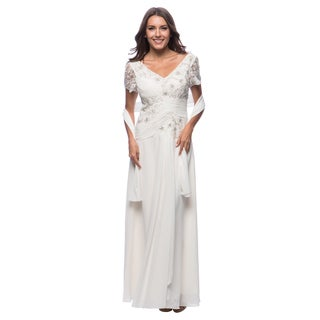 DFI Women's Lace & Sequin Detail Gown