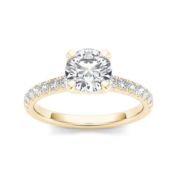 De Couer 14k Yellow Gold 1 1/4 ct TDW Diamond Classic Engagement Ring (H-I, I2)