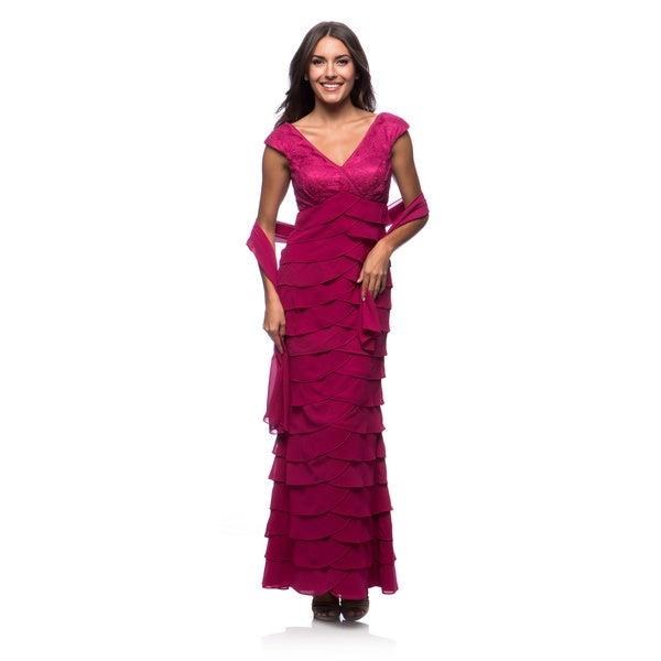 Dollar Women's Tulip Tiered Gown w/Wrap