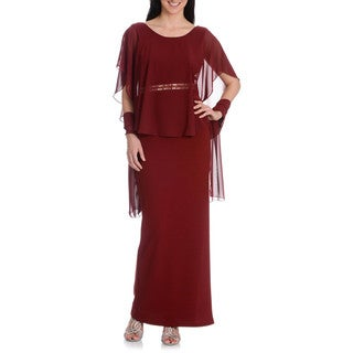 DFI Women's Capulet Sleeve Gown wit h Wrap