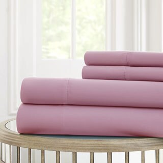 4-piece Solid Microfiber Sheet Set