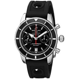 Breitling Men's A2337024-BB81RU 'Superocean Heritage' Automatic Chronograph Black Rubber Watch