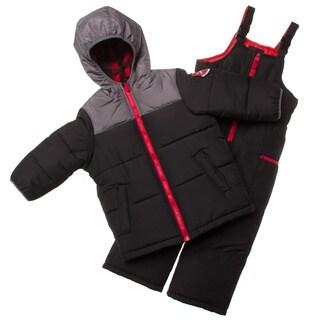 London Fog Toddler Boys' Black Polyester Snowsuit