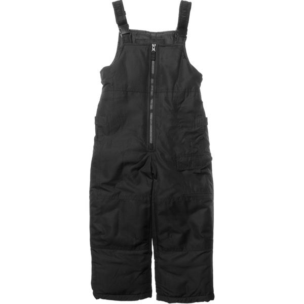 London Fog Toddler Boys' Solid Black Snow Pants