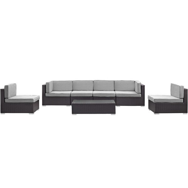 Modway 'Aerial' 7-Piece Outdoor Patio Sectional Set