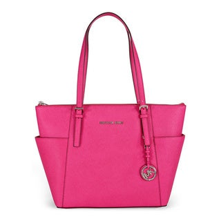 MICHAEL Michael Kors Jet Set Top Zip East/West Raspberry Tote
