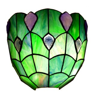 Stained Glass Crystal Ocean Wireless LED Wall Sconce