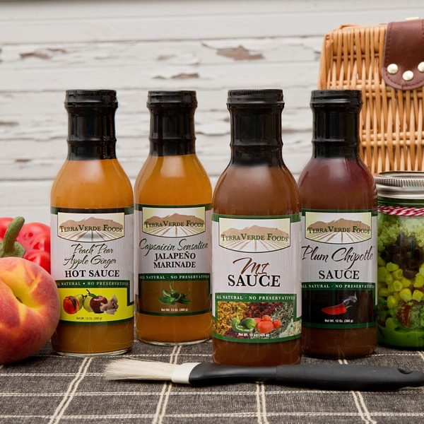 Terra Verde Foods Spicy Grilling Sauces (Pack of 4)