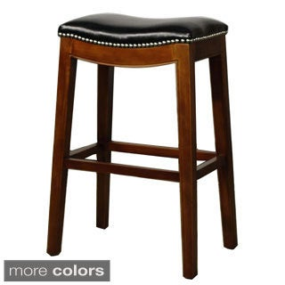 Elmo Bonded Leather Bar Stool