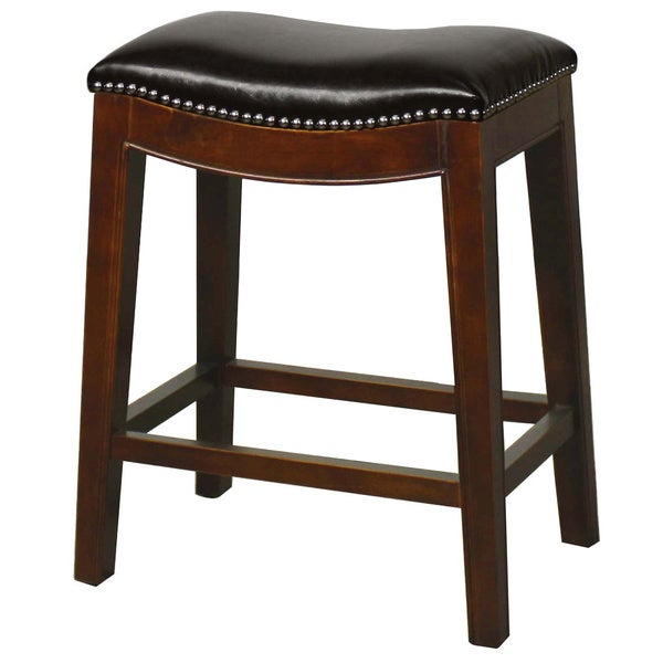 elmo leather bar stool