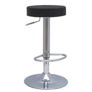 Chrome Double Ring 25 Inch Backless Counter Swivel Stool