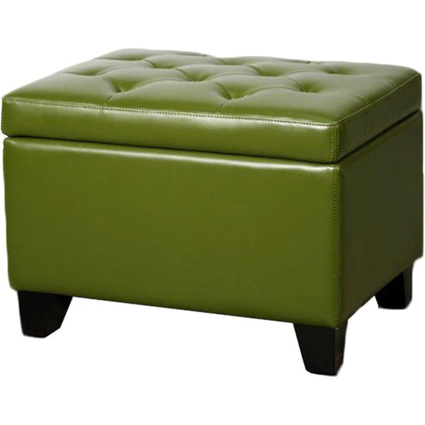 Julian Rectangular Bonded Leather Storage Ottoman