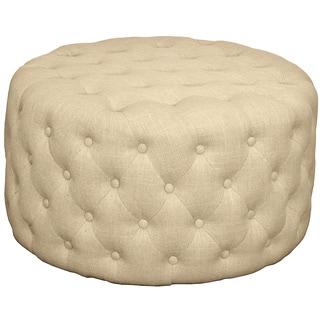 Lulu Round Fabric Tufted Ottoman