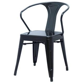 Metropolis Metal Arm Chair (Set of 4)