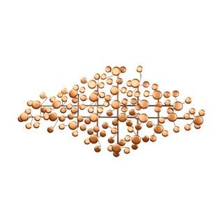 Aurelle Home Wet Goldtone Dot Wall Decor