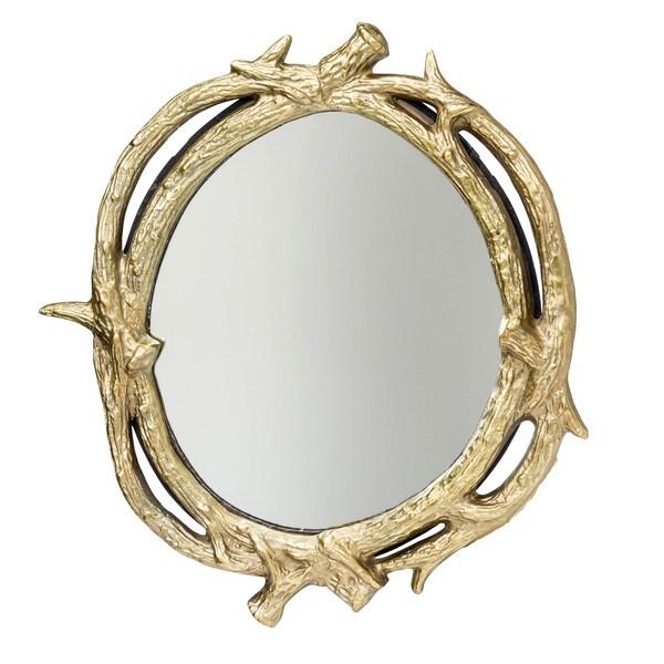 Aurelle Home Willow Mirror Gold