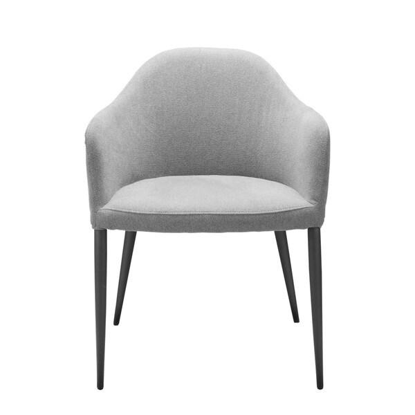 Aurelle Home Diego Dining Chair Dark Grey