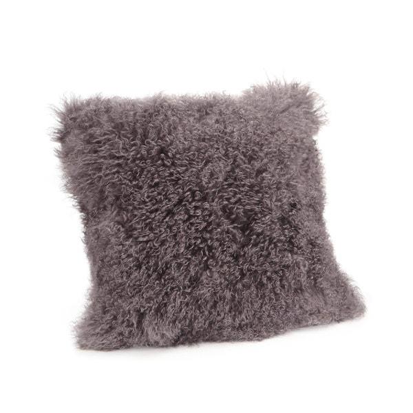 Aurelle Home Lamb Faux Fur 22-inch Throw Pillow