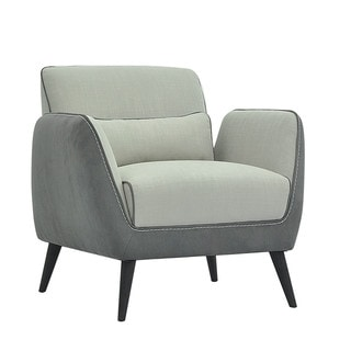 Aurelle Home Ibiza Club Chair Light Grey