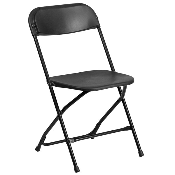 White or Black Plastic Folding Chair Overstock Shopping Th