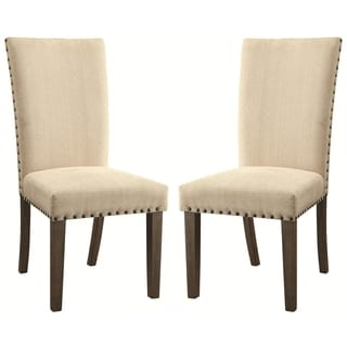 Rosemarin Transitional Driftwood Dining Chairs (Set of 2)