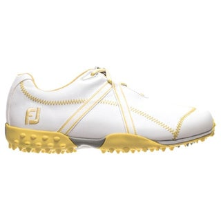 FootJoy Womens M Project 95647 White/ Yellow Spikeless Golf Shoes