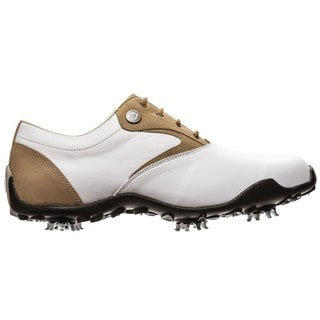 FootJoy Womens LoPro Collection 97119 White/ Tan Golf Shoes