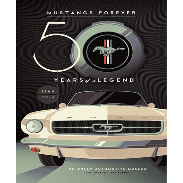 Mustang 50th Petersen Automotive Museum Anniversary Poster