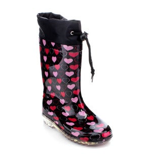 Jelly Beans END Girls' Multi Color Calf Wrap Rain Boots