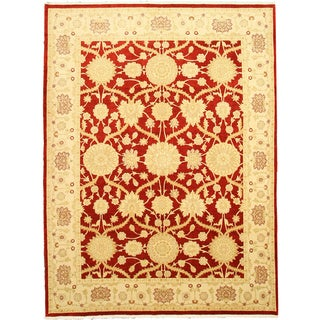 EORC X29830 Red Hand-knotted Wool Lori Area Rug (8'3 x 11')