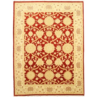 EORC Hand Knotted Wool Red Lori Rug (8'3 x 11')