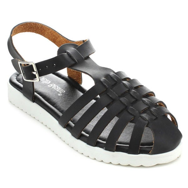 Jelly Beans EMMA Girls' Caged Slingback Flat Sandals