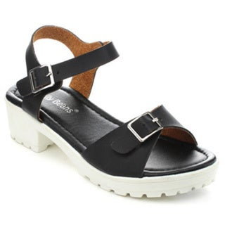 Jelly Beans WABLO Girls' Ankle Strap Chunky Heel Sandals