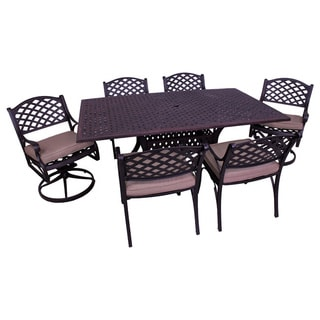 Lattice Work 7pc Rectangular table dining set