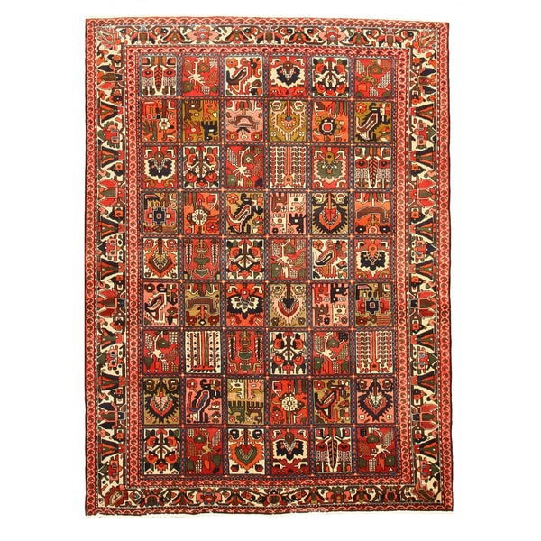 EORC X34723 Multi Hand-knotted Wool Bakhtiar Area Rug (6'10 x 9'2)