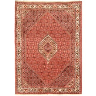 EORC X35990 Red Hand-knotted Wool Bidjar Area Rug (8'1 x 11'2)