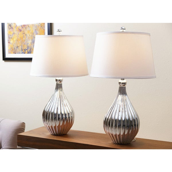 ABBYSON LIVING Sienna Silver Chrome Table Lamp (Set of 2)