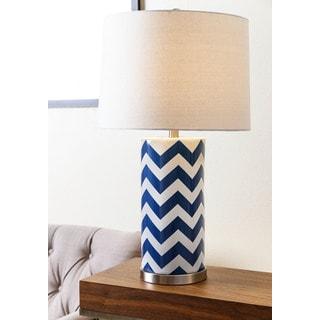 ABBYSON LIVING Madison Navy Blue Chevron Table Lamp