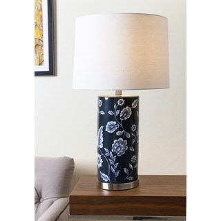 ABBYSON LIVING Madison Blue Paisley Floral Table Lamp