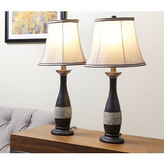 ABBYSON LIVING Carlisle Brown Table Lamp (Set of 2)