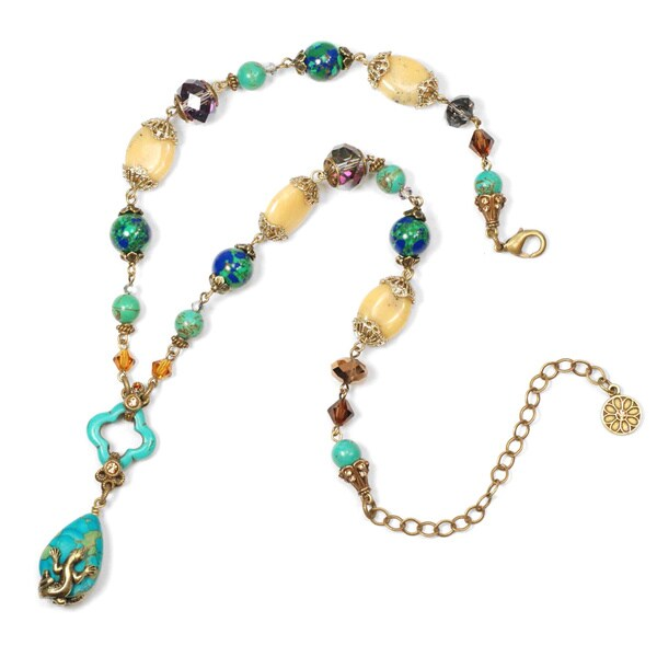 Sweet Romance Pewter Rocky Ridge Lizard Necklace